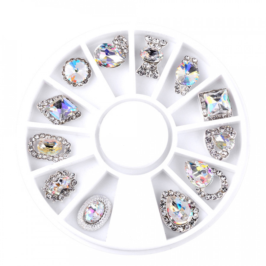 3D Nail Tips Manicure Wheels Charming 12pcs/Pack Craft Makeup Tool
