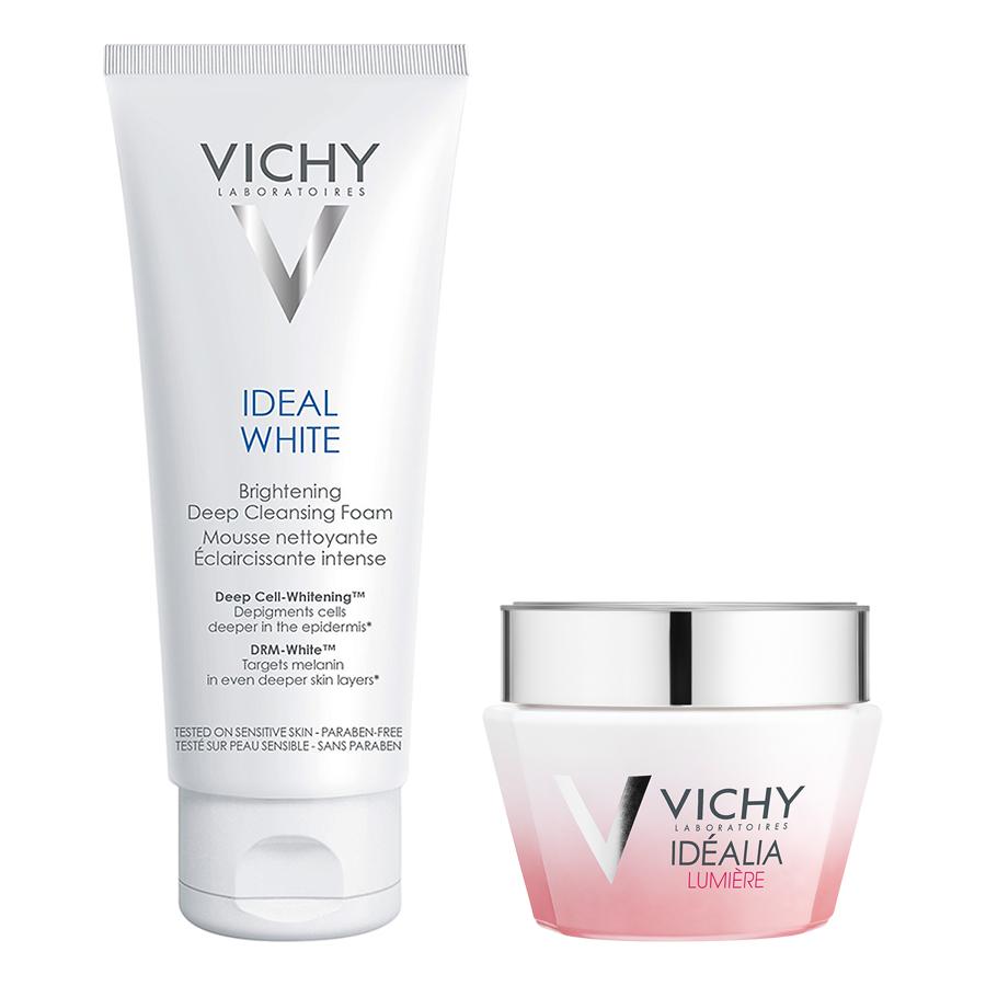 Bộ chăm sóc da Sữa Rửa Mặt Tạo Bọt Dưỡng Trắng Da Vichy Ideal White Brightening Deep Cleansing Foam (100ml)+ Kem Dưỡng Da... - 18400088 , 1384968924752 , 62_19946824 , 1550000 , Bo-cham-soc-da-Sua-Rua-Mat-Tao-Bot-Duong-Trang-Da-Vichy-Ideal-White-Brightening-Deep-Cleansing-Foam-100ml-Kem-Duong-Da...-62_19946824 , tiki.vn , Bộ chăm sóc da Sữa Rửa Mặt Tạo Bọt Dưỡng Trắng Da Vic