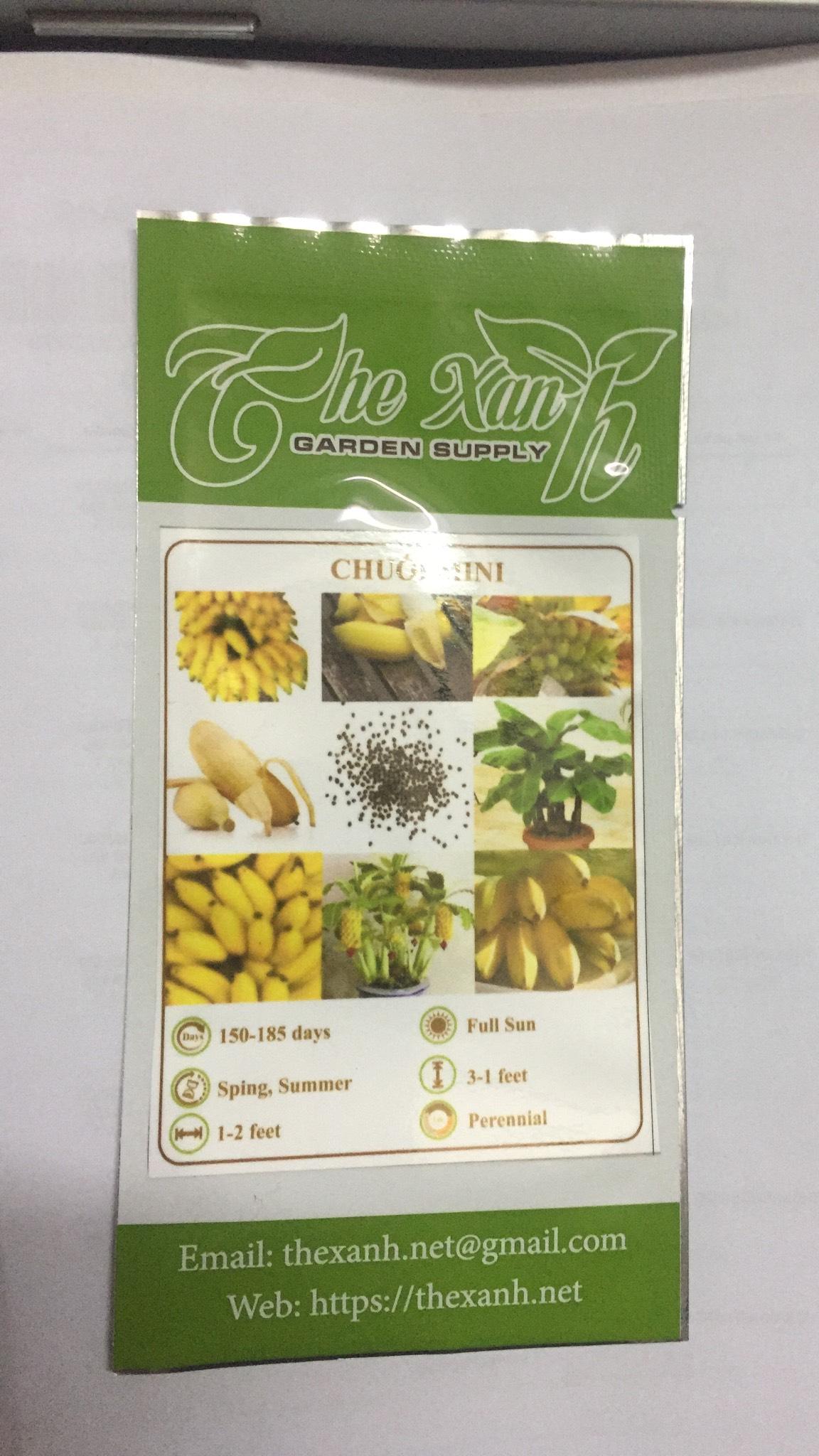 Bộ 2 gói Hạt giống chuối mini-10 hạt