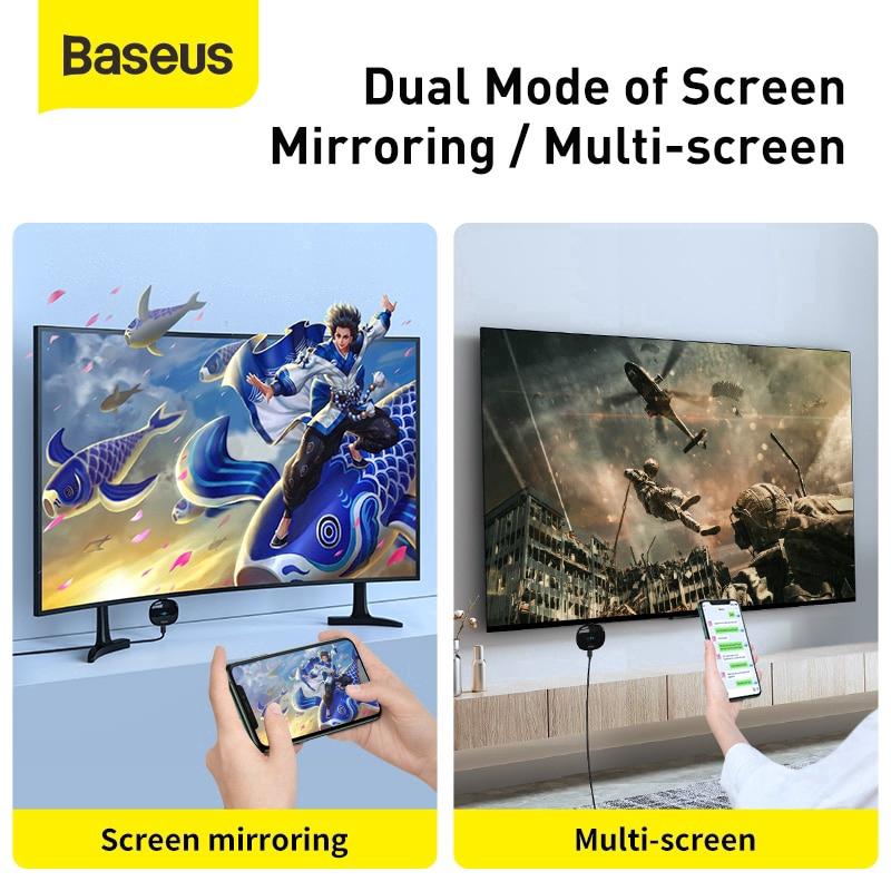 Bộ truyền hình ảnh qua HDMI không dây Baseus Meteorite Shimmer Wireless Display Adapter - Hàng chính hãng