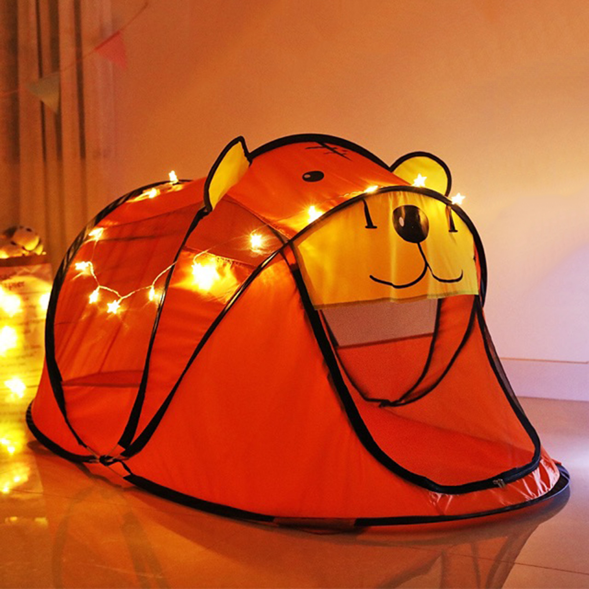 Lều Hình Gấu Baby Cho Bé - Lều Chơi Dã Ngoại - Thiết Kế Hình Gấu Baby Đáng Yêu - Chống Muỗi An Toàn, Thiết Kế Tự Bung, Dễ Dàng Di Chuyển, Tháo Rời, Cất Gọn.