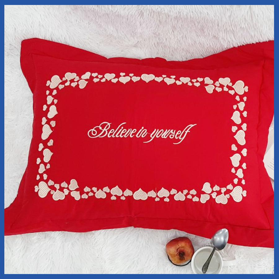 Vỏ Áo Gối Nằm Cotton 50x70 Chần Bông Mềm Mịn Thoải Mái Thoáng Mát SERENA Cao Cấp Chuẩn Khách Sạn 5 Sao