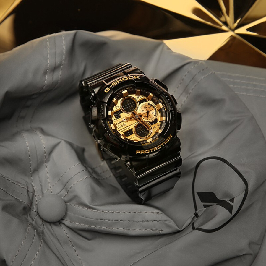 Đồng hồ nam dây nhựa Casio G-Shock chính hãng GA-140GB-1A1DR