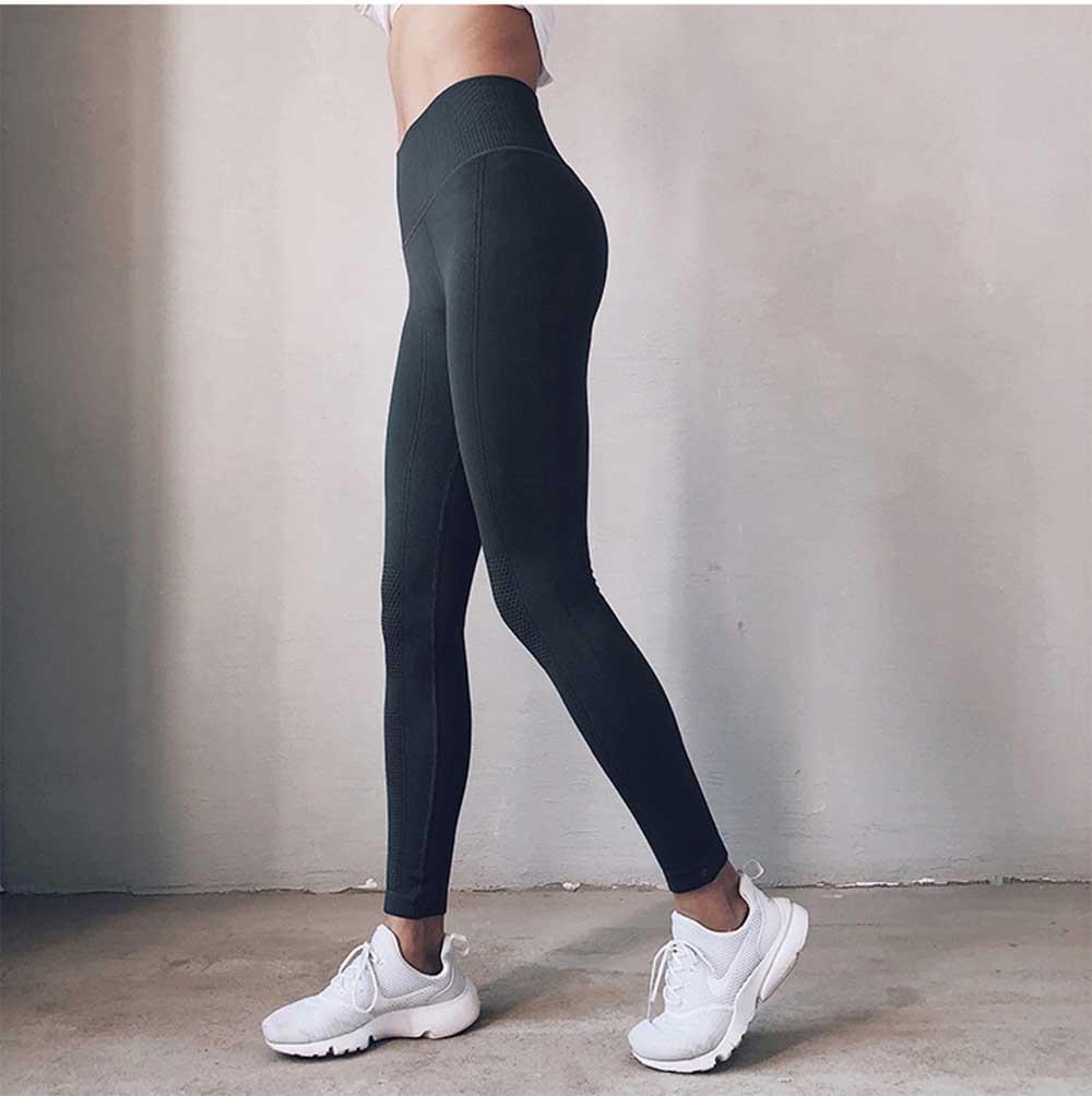Quần legging nữ yoga, Quần legging nữ tập gym, Quần gym nữ cạp cao - Quần legging dài tập gym nữ nâng mông, gen bụng cực tốt tạo dáng eo thon chất liệu dệt cao cấp (SP085)