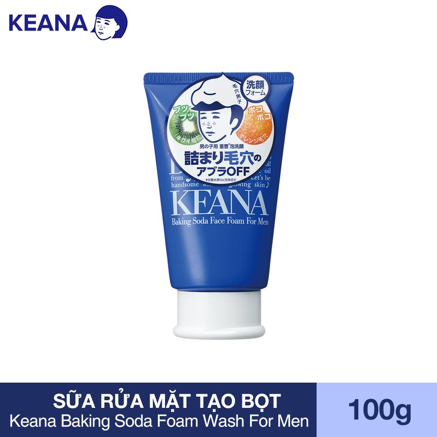 Sữa Rửa Mặt Tạo Bọt Cho Nam Keana Baking Soda Foam Wash For Men (100G) - HÀNG CHÍNH HÃNG