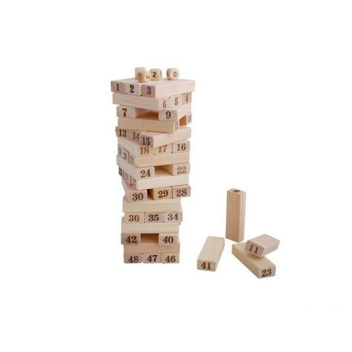 Đồ chơi thông minh cho bé, đồ chơi bằng gỗ tự nhiên, đồ chơi rút gỗ Wiss Toy 54 thanh cho bé trai và bé gái - Tặng Kèm Móc Khóa