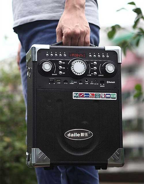 Loa Karaoke Bluetooth Daile S8 Có Mic Không Dây - Hàng Nhập Khẩu