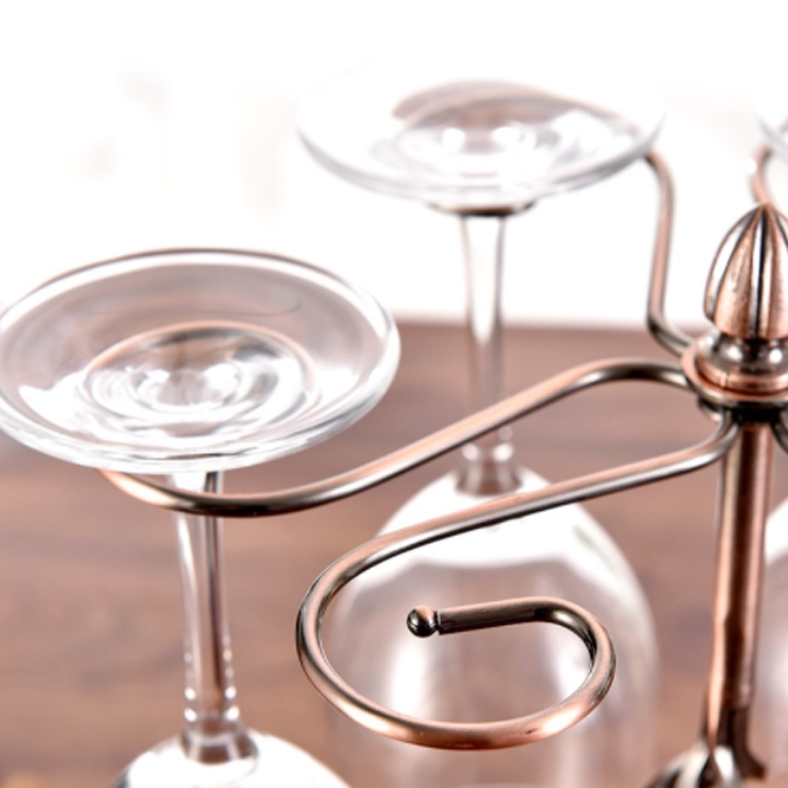 Giá treo ly rượu vang để bàn thân thẳng Cao Cấp