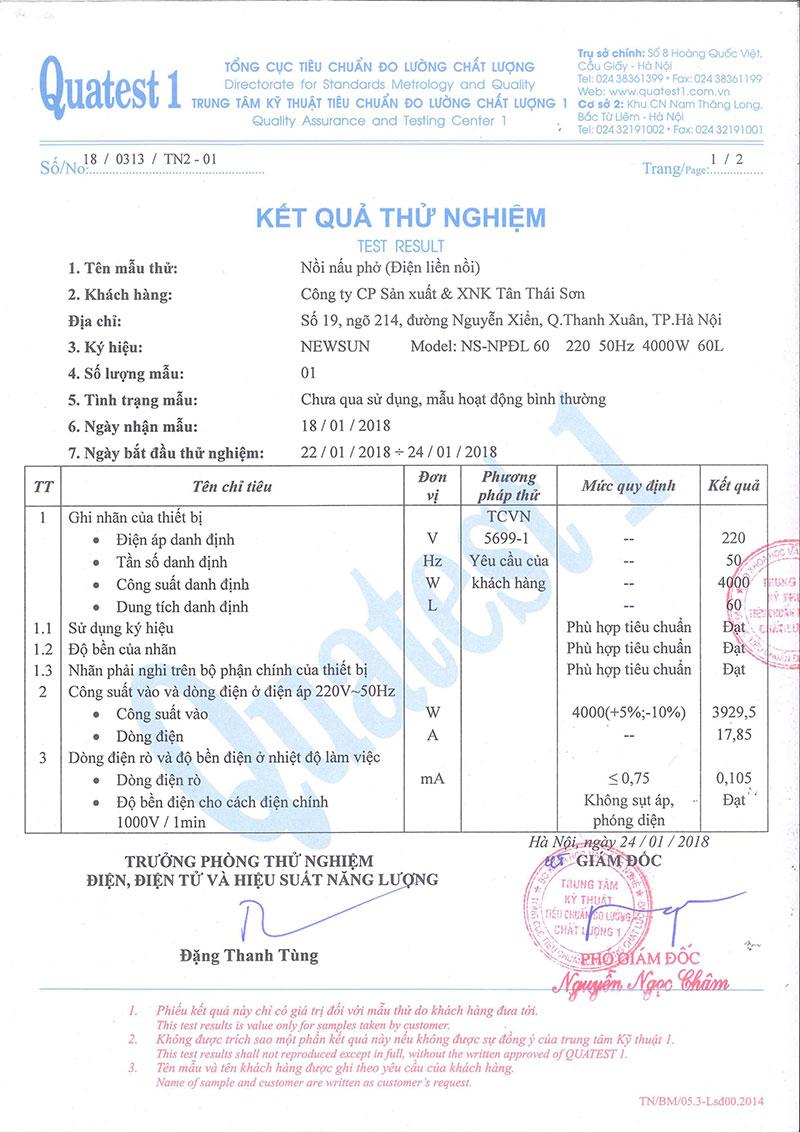 Nồi Nhúng Trần Bánh Phở Điện Liền NEWSUN 30L - Hàng chính hãng