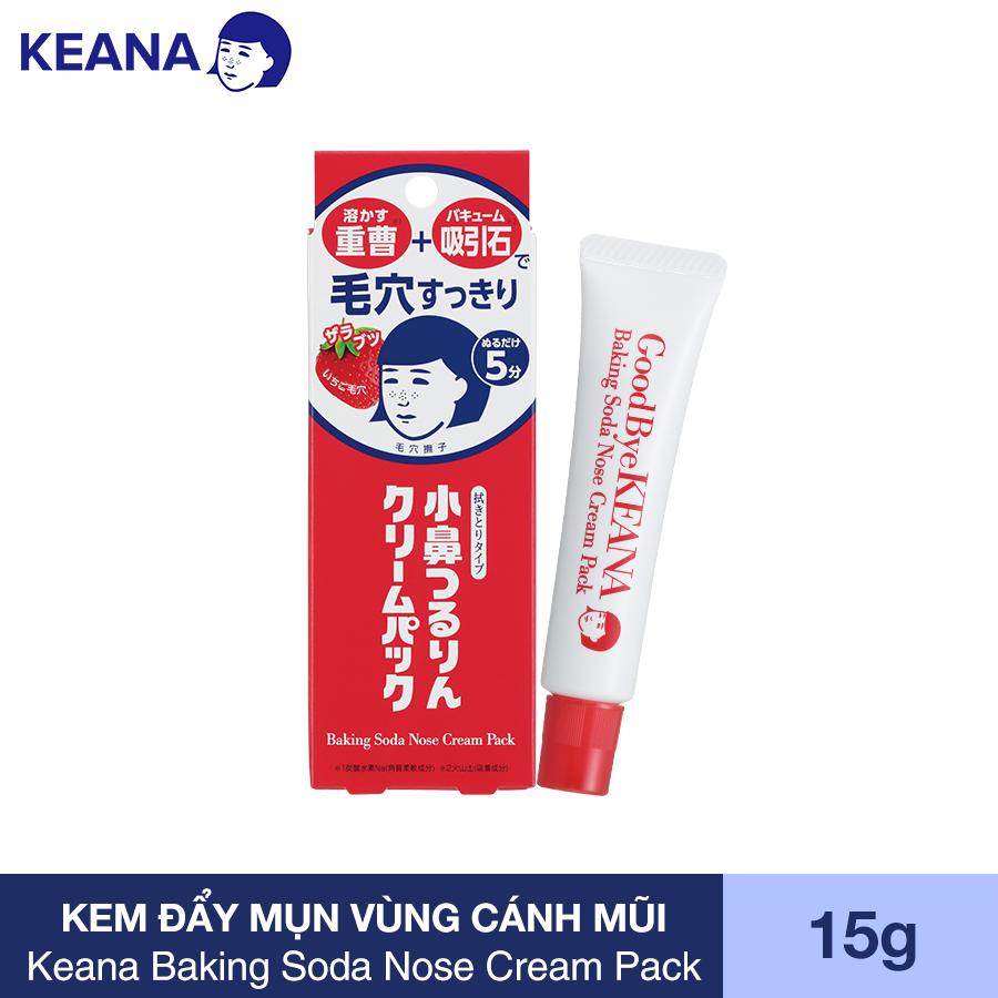 Kem Làm Giảm Mụn Đầu Đen Keana Baking Soda Nose Cream Pack (15G) - HÀNG CHÍNH HÃNG