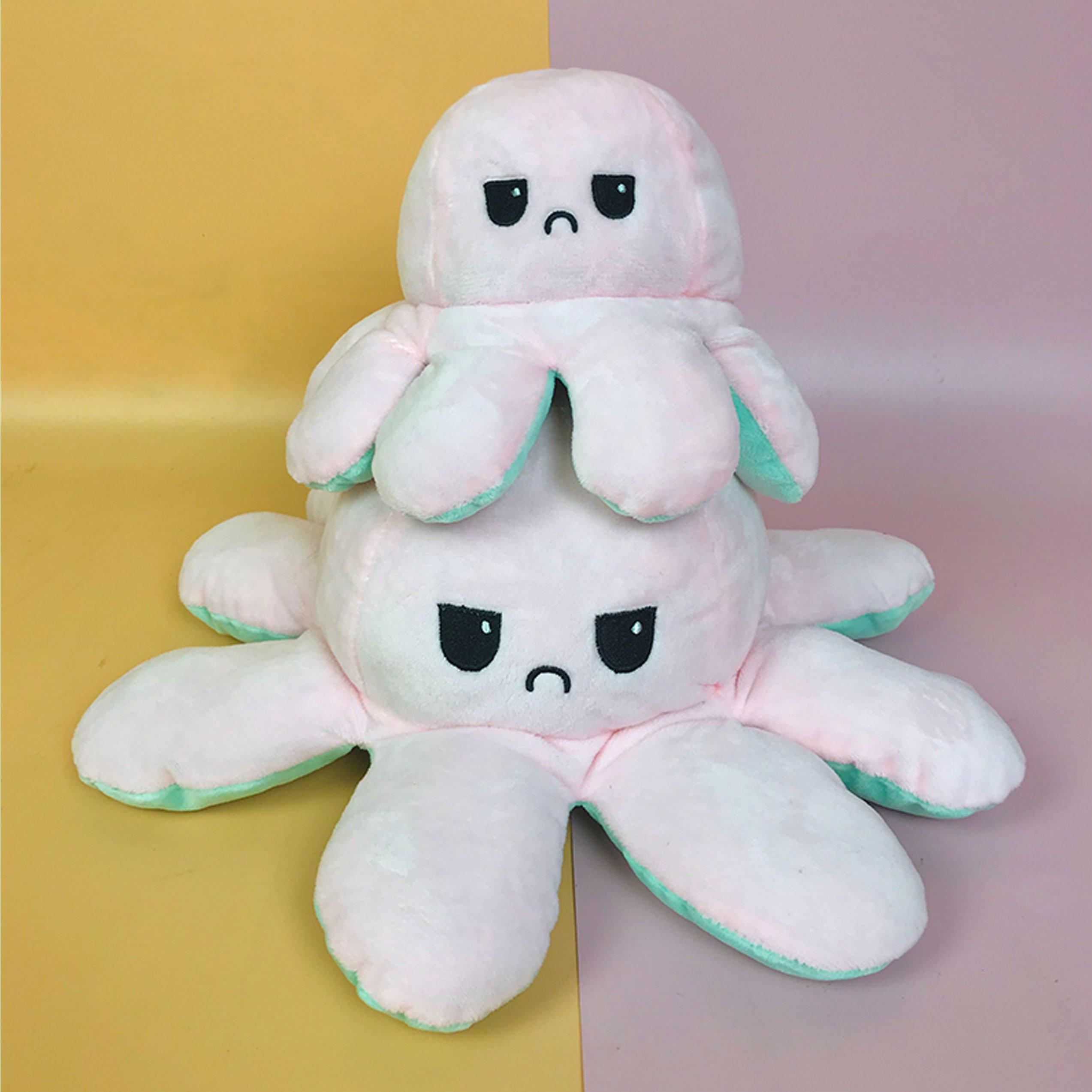 Gấu bông bạch tuộc cảm xúc 2 mặt cao cấp - Hàng chính hãng Memon - Đồ chơi thú nhồi bông bạch tuộc cảm xúc nhiều màu. Kích thước 20cm, Bông gòn mềm mịn, dễ sử dụng và an toàn cho trẻ nhỏ.