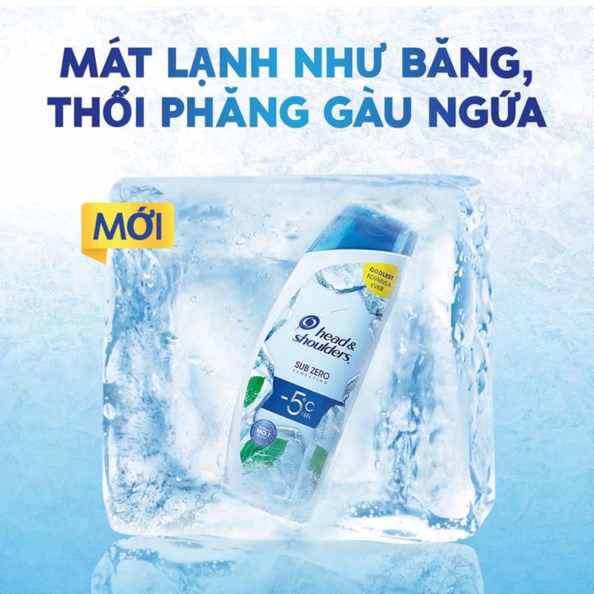 Dầu Gội Head & Shoulders Sub-Zero Băng Lạnh 0 Độ 300ml