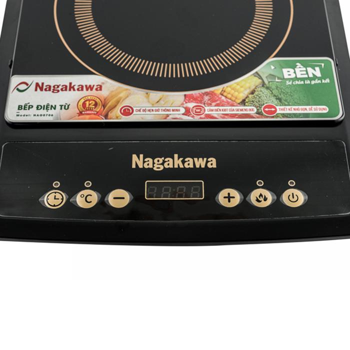 Bếp Từ Đơn Nagakawa NAG0706 (1800W) - Kèm Nồi Lẩu - Hàng Chính Hãng