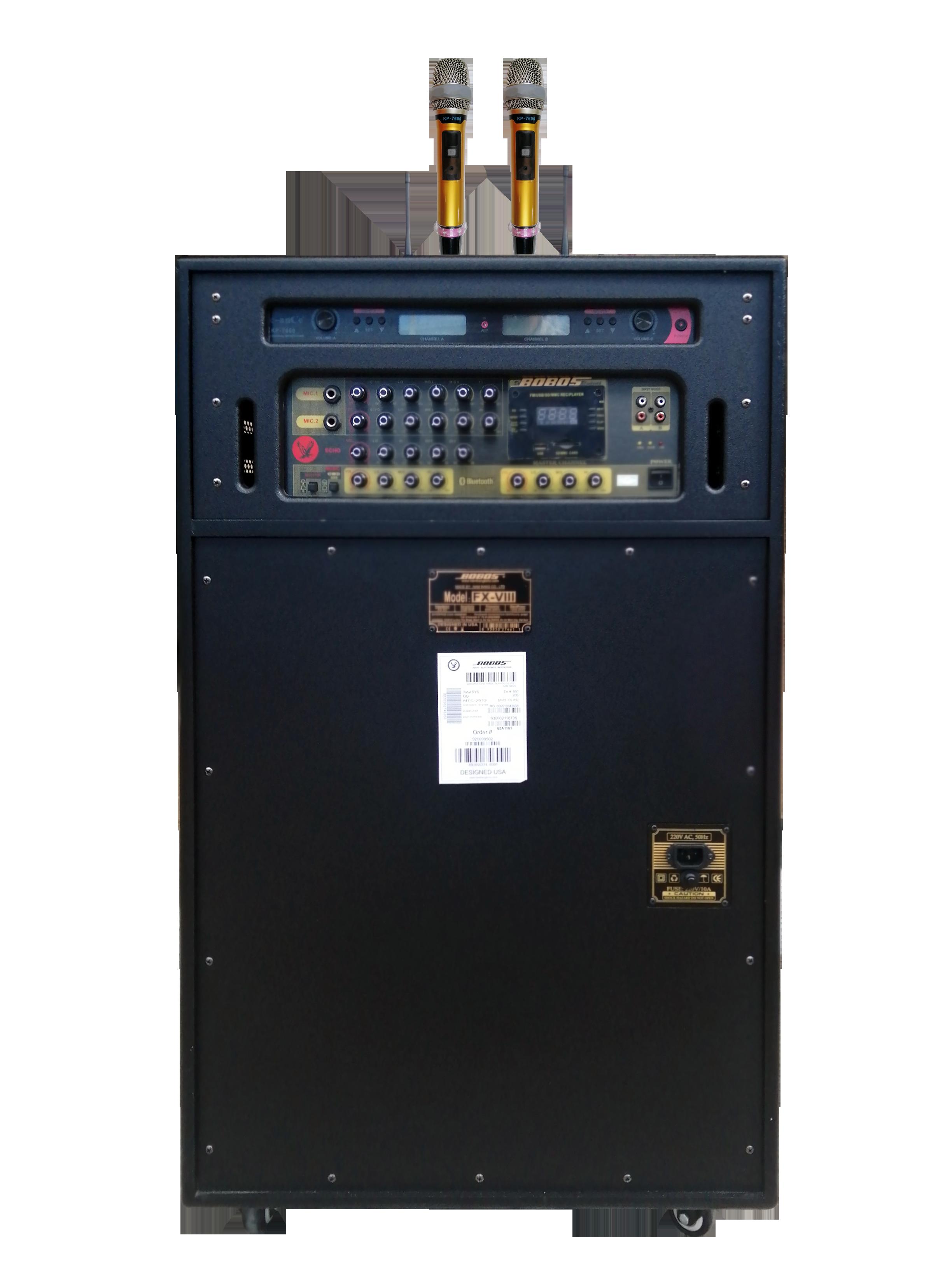 LOA ĐIỆN DI ĐỘNG  BLUETOOTH BOBOS FX-VIII (LOA 4 BASS X 2.5 TẤC) - Hàng chính hãng