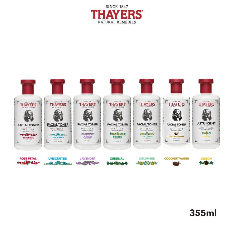 Nước hoa hồng không cồn THAYERS - Hương dưa chuột 355ml