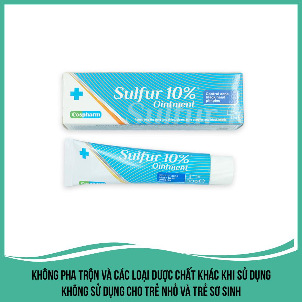 Kem trị mụn Cospharm Crevil Sulfur Ointment 10%, kháng viêm kháng khuẩn và điều trị mụn, làm mờ sẹo với tinh chất triết xuất thiên nhiên