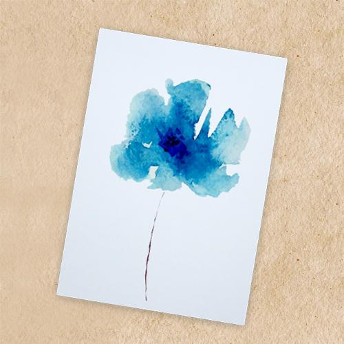 Giấy vẽ màu nước 40 tờ màu trắng có vân khổ (9.7 x 13.5) cm A6 lỡ