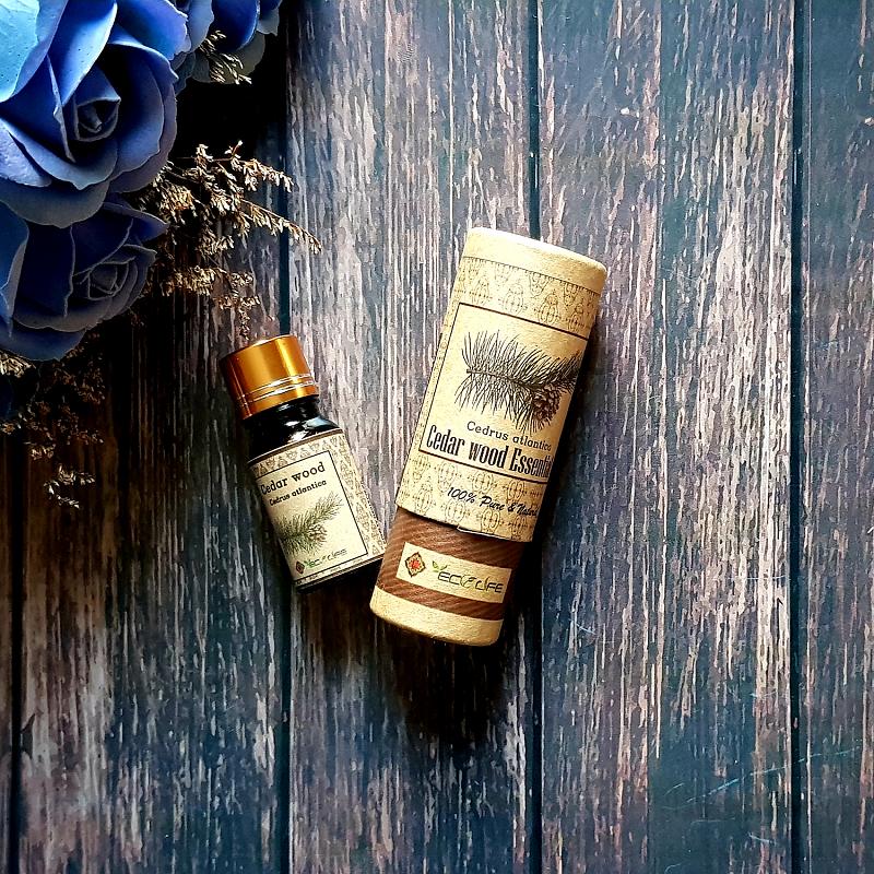 Tinh dầu hoàng đàn nguyên chất Ecolife - Cedar Wood Essential Oil