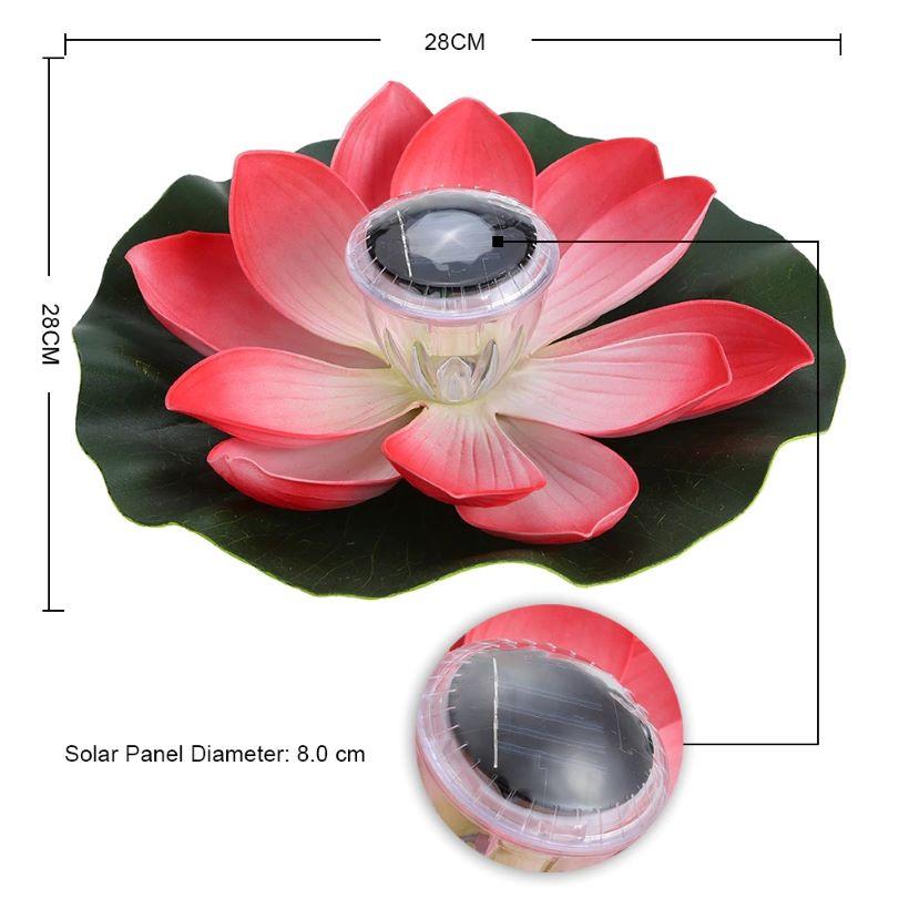 Bông sen phát sáng năng lượng mặt trời HT01-056