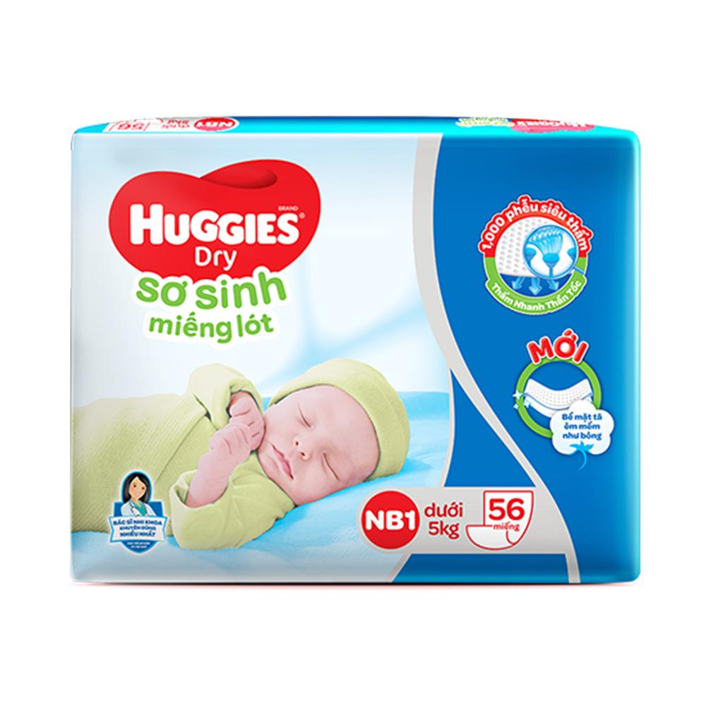 Hình ảnh Miếng lót sơ sinh Huggies Newborn 1 - 56 miếng (dưới 5 kg)