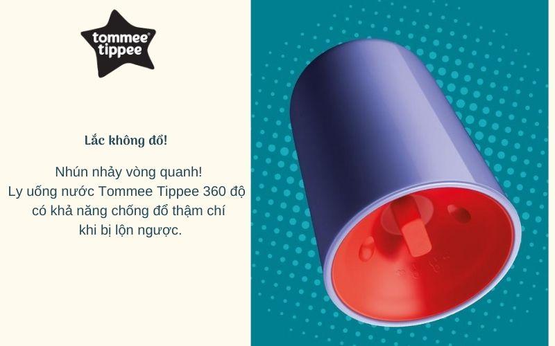 Ly tập uống nước Tommee Tippee 360 Deco Tumbler từ 12 tháng - Tím