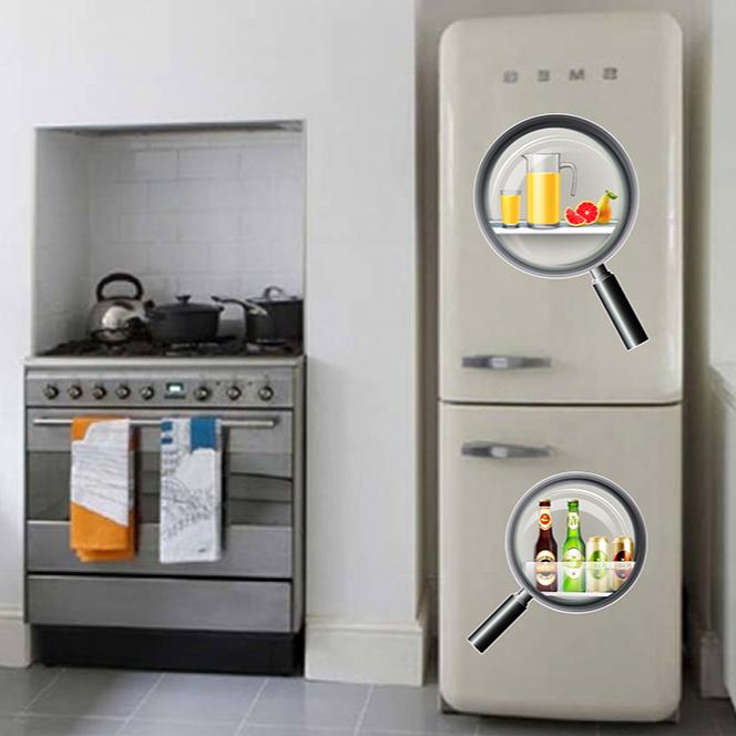Decal trang trí tủ lạnh số 19