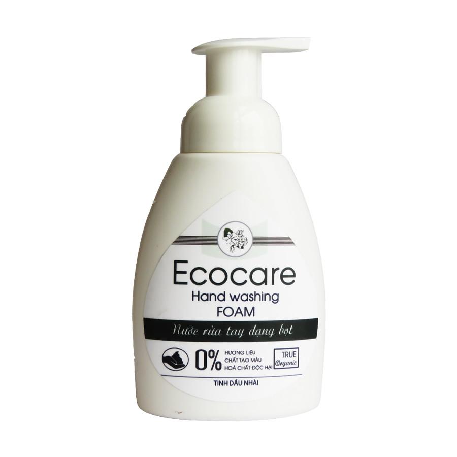 Nước rửa tay hữu cơ diệt khuẩn dạng bọt hương Nhài 1000ml thương hiệu Ecocare ( tặng kèm vỏ tạo bọt)