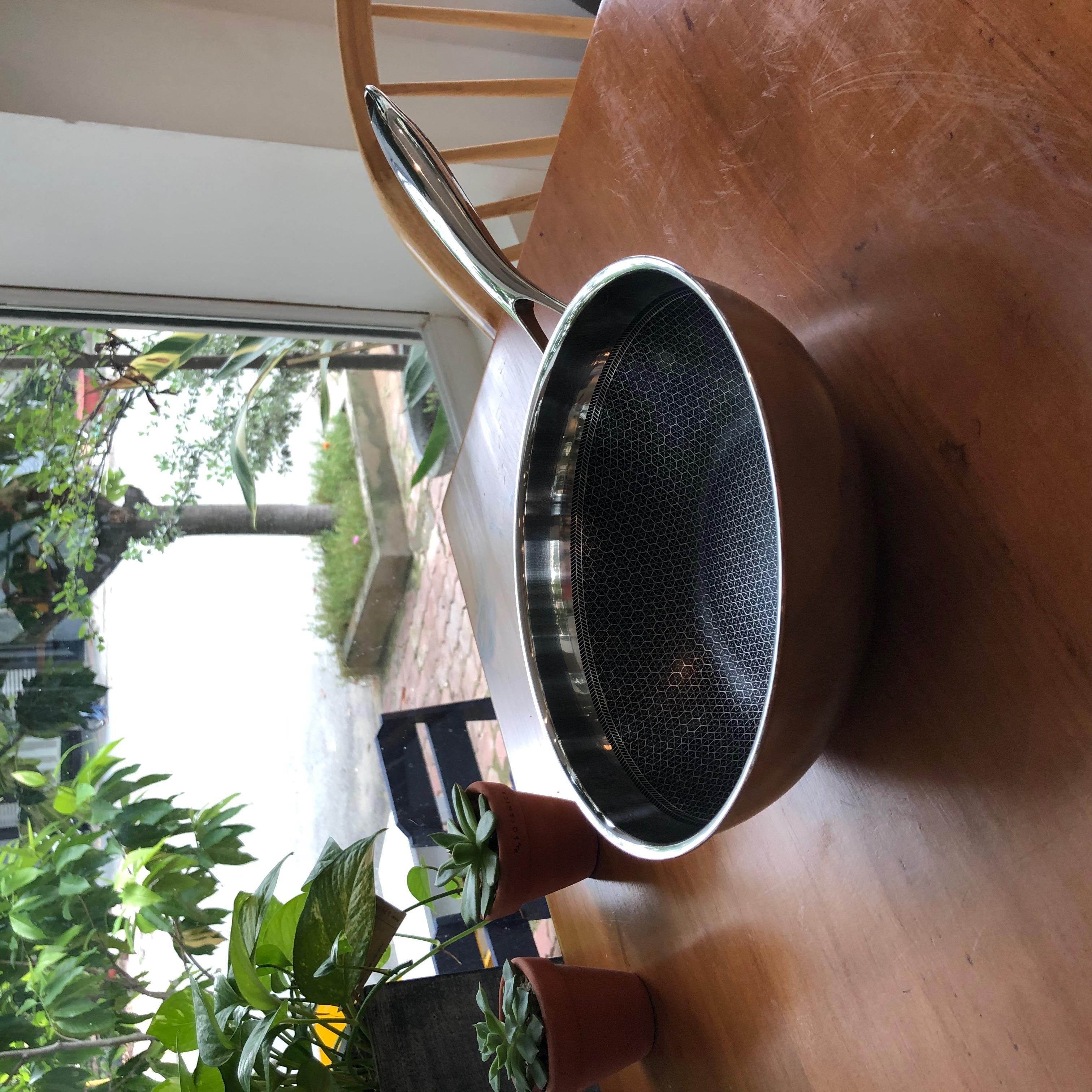 Chảo Sâu Lòng Chống Dính Blackcube Inox 304 - Thương Hiệu Berndorf Sandrik -  Size 24 Non-Stcik Stainless Steel  Fry Wok