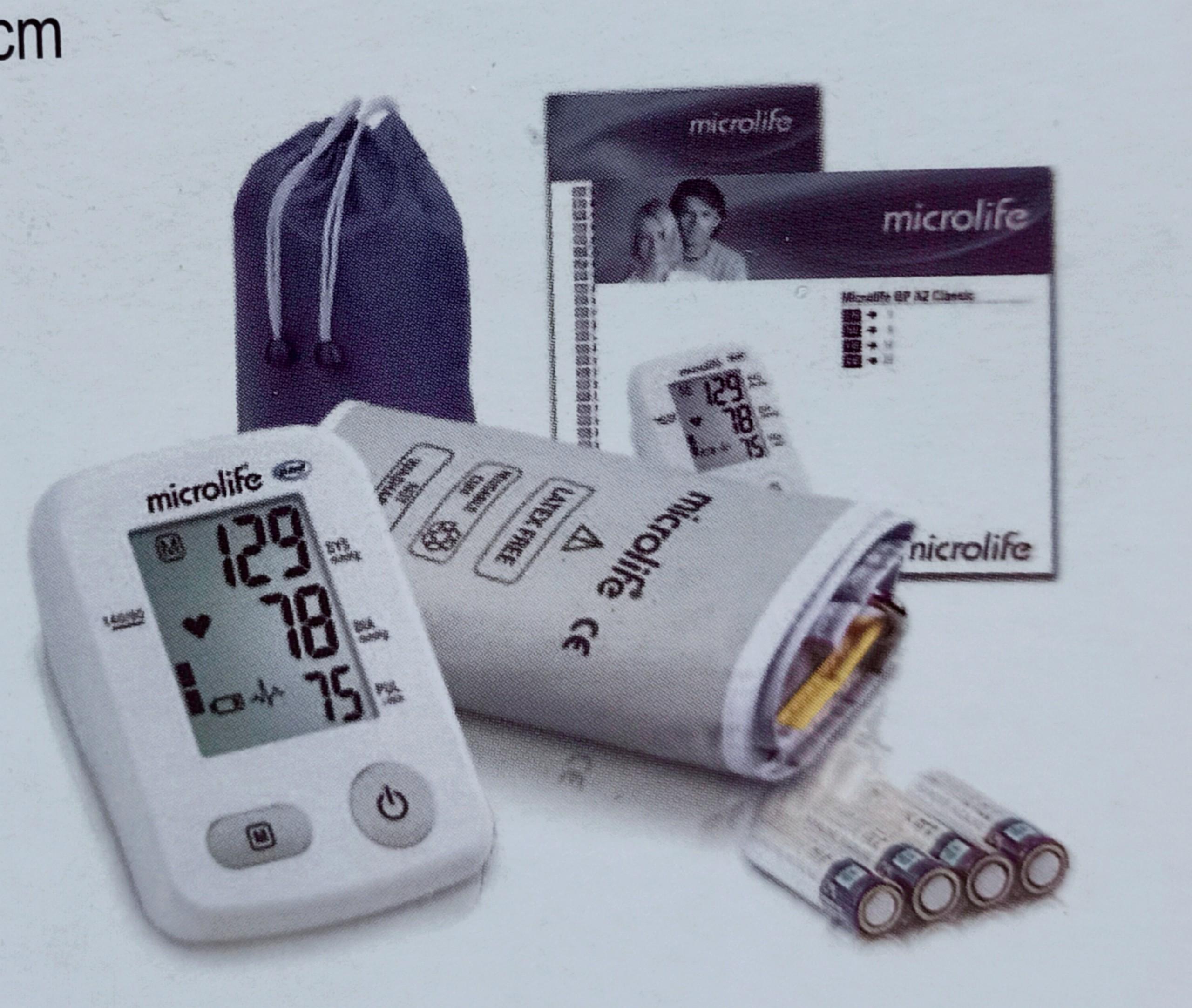 Máy đo huyết áp bắp tay Microlife BP A2 Classic tặng kèm Adapter