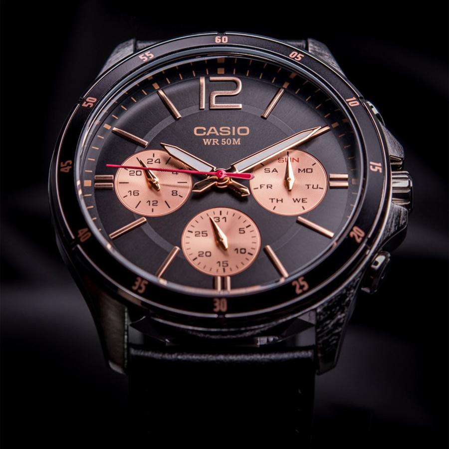 Đồng hồ nam dây da Casio Standard chính hãng MTP-1374L-1A2VDF