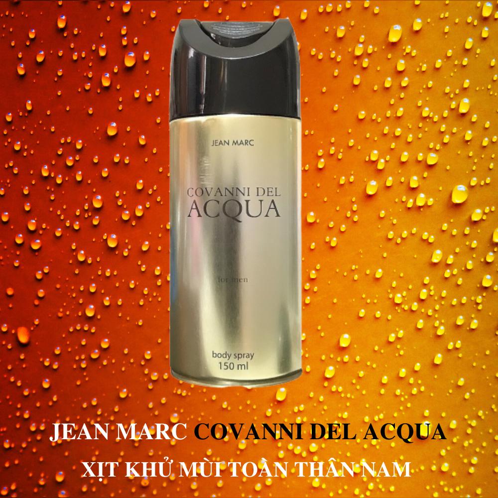 Xịt khử mùi toàn thân nam Jean Marc Covanni Del Acqua 150ml