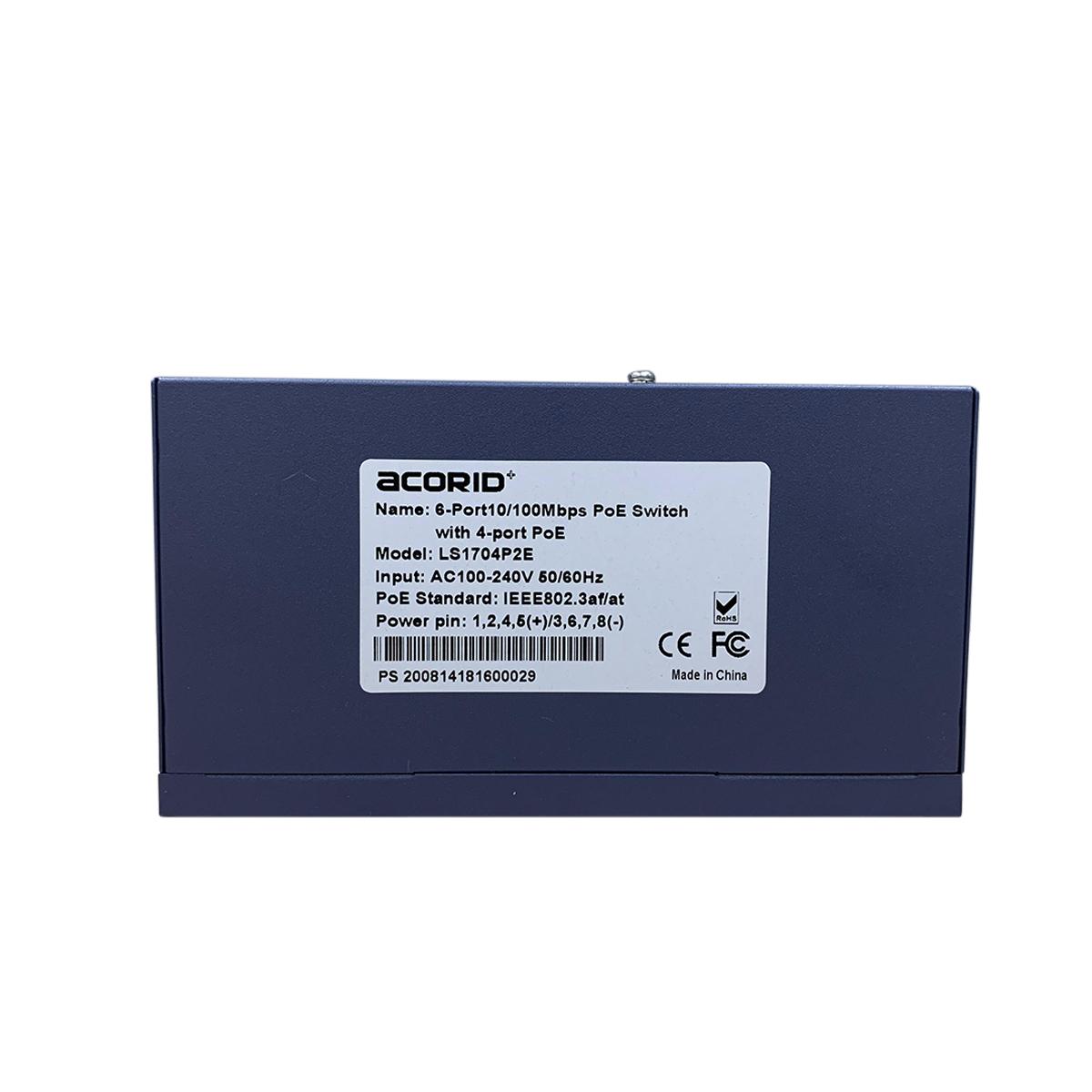 Switch PoE 4 PoE FE port x 2*FE Rj45 Uplink Acorid LS1704P2E 65W- Hàng chính hãng