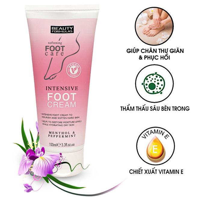 Kem Dưỡng Da Chân Beauty Formulas Intensive Foot Cream 100ml