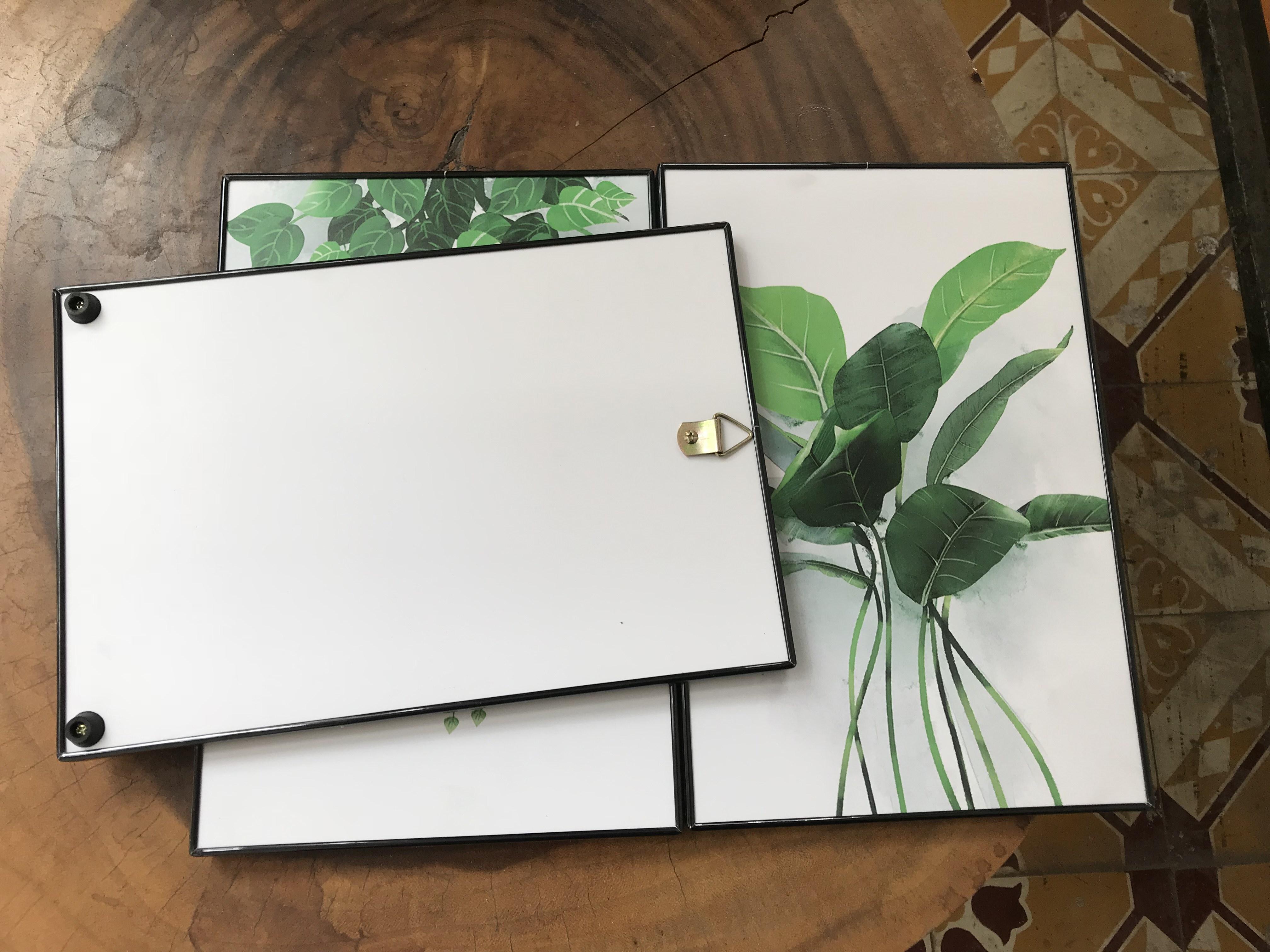 Tranh treo tường CAO CẤP 3 bức phong cách hiện đại MONSKY -  Bắc Âu ND01A, In UV công nghệ Nhật Bản 3 lớp trực tiếp lên tấm FORMEX (Như tấm gỗ nguyên khối) kèm khung và đinh ghim móc treo, kích thước 20x30cm/bức