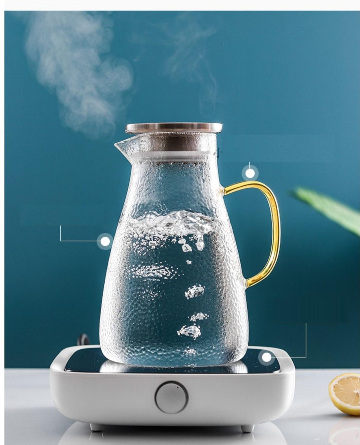 Bộ bình nước thuỷ tinh chịu nhiệt cao cấp kèm 6 ly, cốc phong cách Bắc Âu (Quà tặng, biếu lễ Tết, tặng tân gia, sử dụng trong gia đình,...