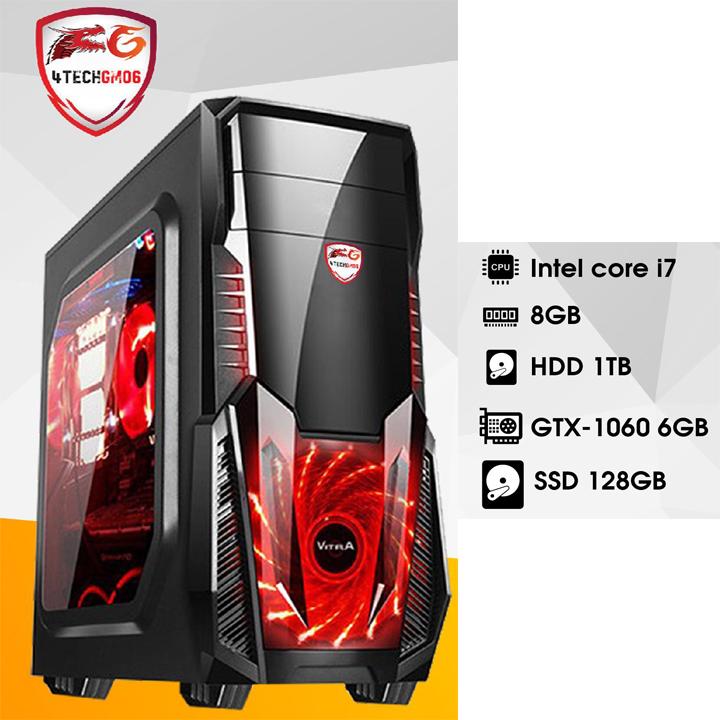 Máy Tính Chiến Game GTA5, PUBG 4TechGM06 Core i7, Ram 16GB, SSD 128GB & HDD 1TB, VGA GTX1060 6GB - Hàng Chính Hãng