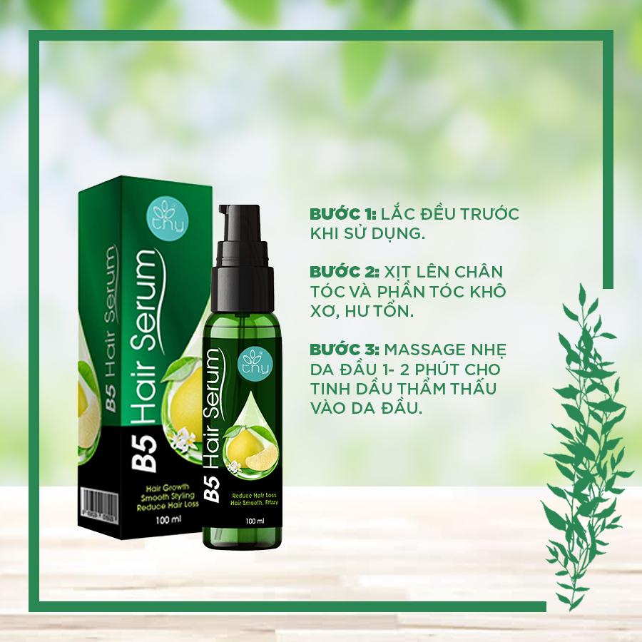 B5 Hair Serum - Xịt dày tóc, ngăn rụng tóc, không gây bết dính - T.H.Y 100ml (Sản Phẩm Chính Hãng)