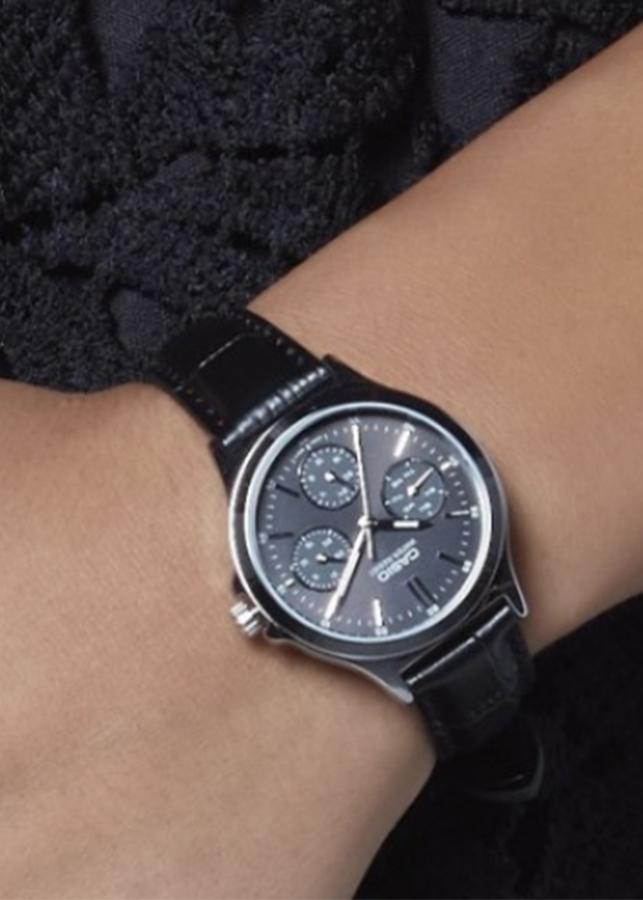 Đồng hồ Nữ Casio dây Da kính Cứng LTP-V300L-1AUDF