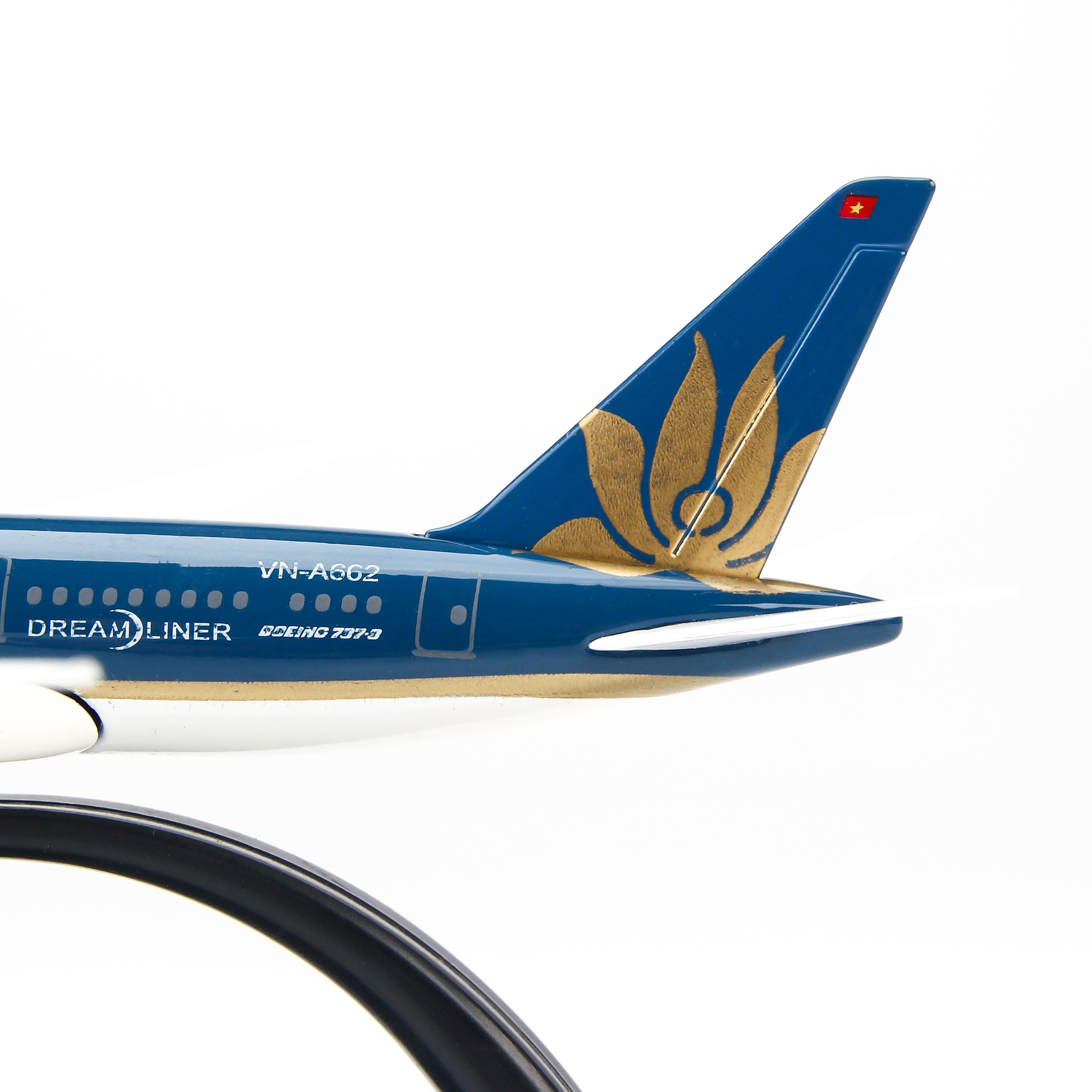 Mô Hình Máy Bay Trưng Bày Vietnam Airlines Everfly (Xanh Dương Đậm)