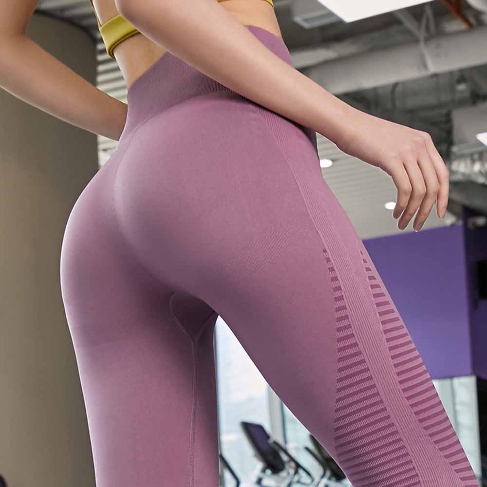 Quần legging nữ tập gym, Quần legging nữ yoga, Quần gym nữ cạp cao - Quần dài tập gym nữ nâng mông, gen bụng cực tốt tạo dáng eo thon chất liệu dệt cao cấp (SP117)