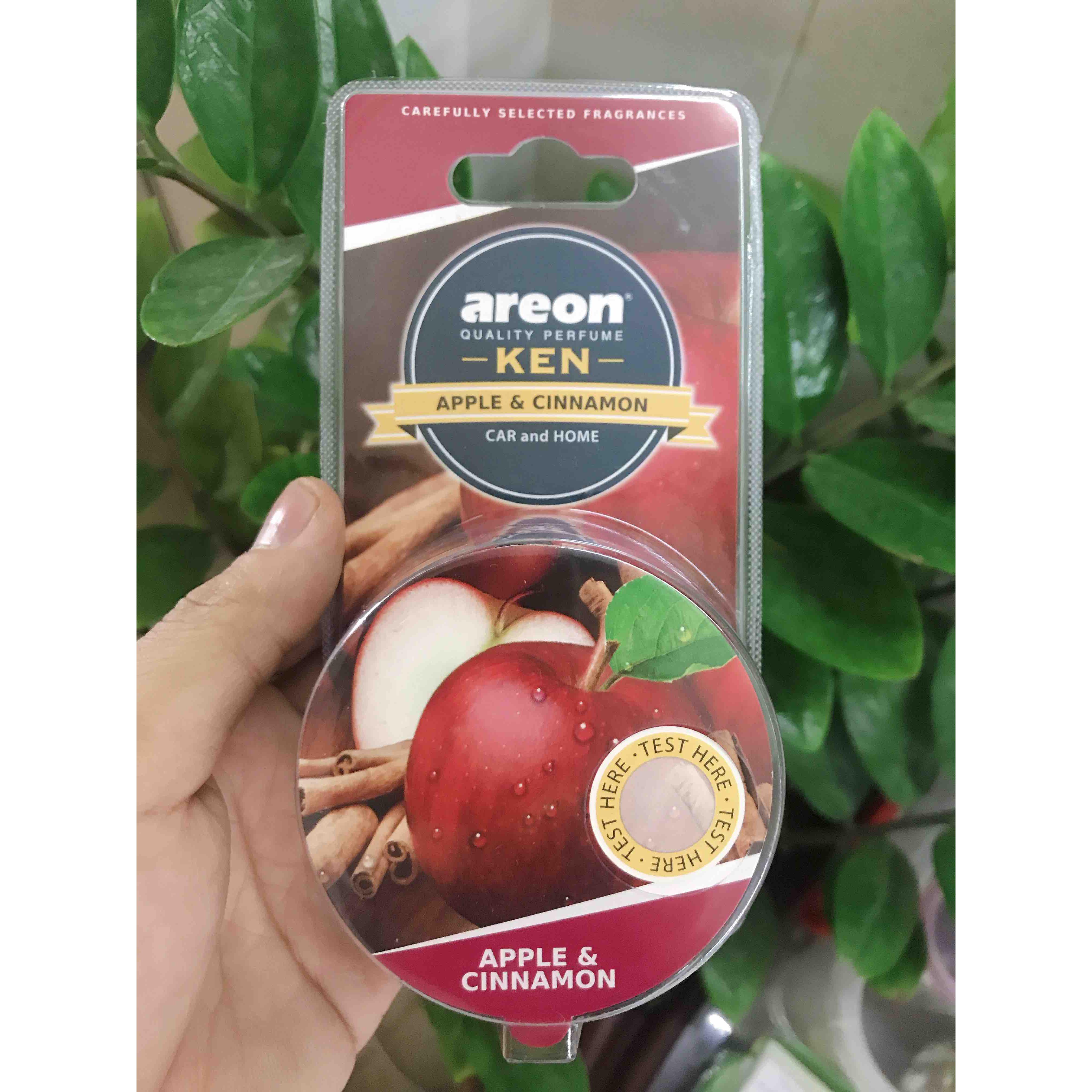 Sáp thơm Areon hương Táo & Quế – Thanh mát, Dịu nhẹ - Bậc thầy Say xe - Areon Ken Apple & Cinnamon (Dịu nhẹ)