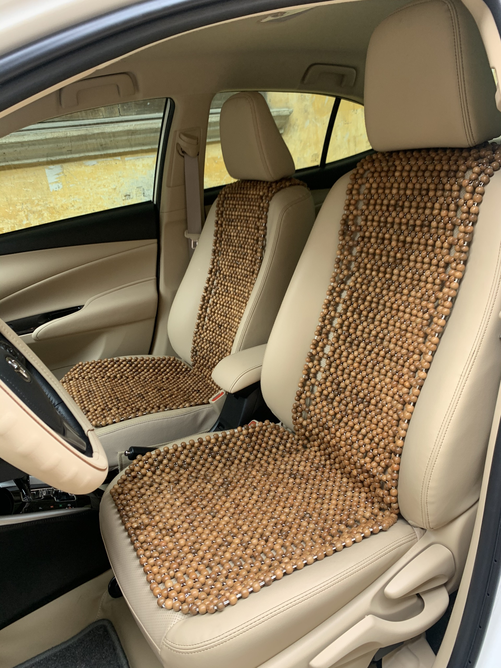 Lót ghế ô tô hạt gỗ Hương cao cấp loại cài dưới gối đầu ( Hình thật ) - Hạt gỗ ghế ô tô - Nệm hạt gỗ