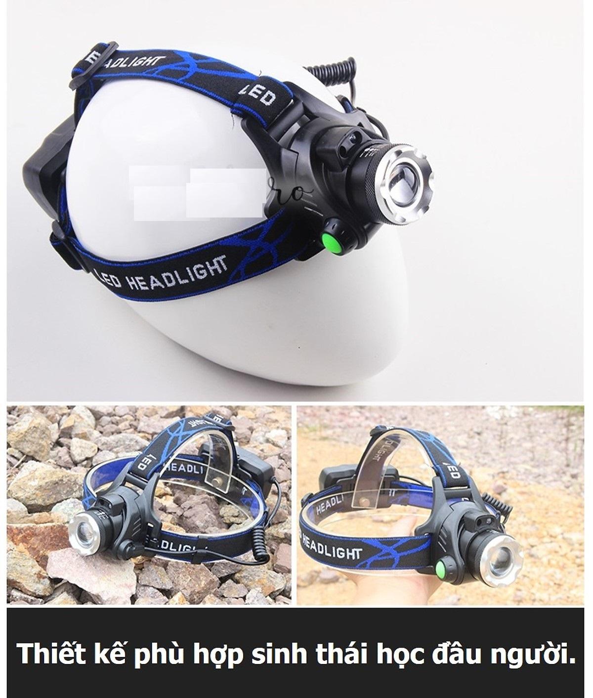 Đèn pin đội đầu siêu sáng 50W D00-143