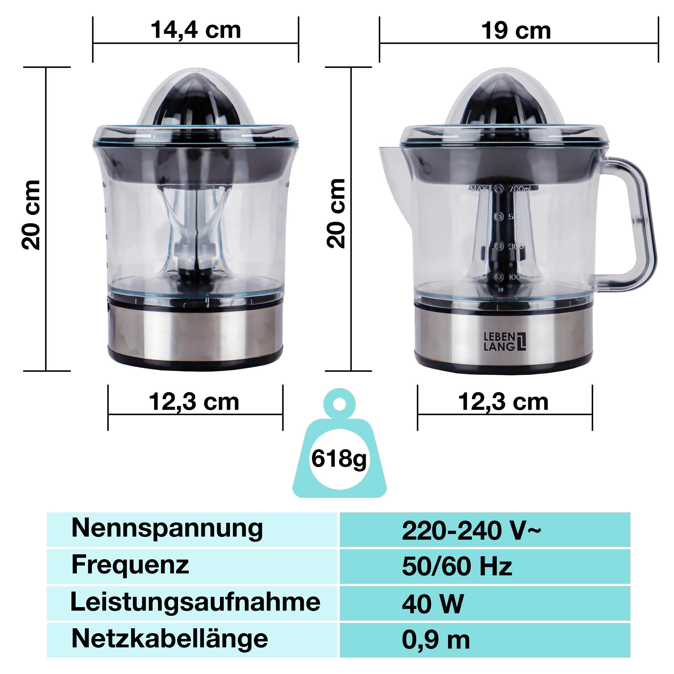 Máy vắt cam 0.7lit LB389 Lebenlang (Hàng nhập khẩu) - Máy vắt cam |  SieuThiChoLon.com