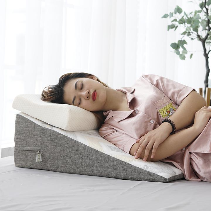 Gối Chống Trào Ngược Dạ Dày Người Lớn Hi-Sleep KT 70x60x22cm giảm nhanh trào ngược dạ dày, nghẹt mũi, viêm xoang, ho đêm, copd, ngáy, ngưng thở khi ngủ, suy giãn tĩnh mạch chi dưới
