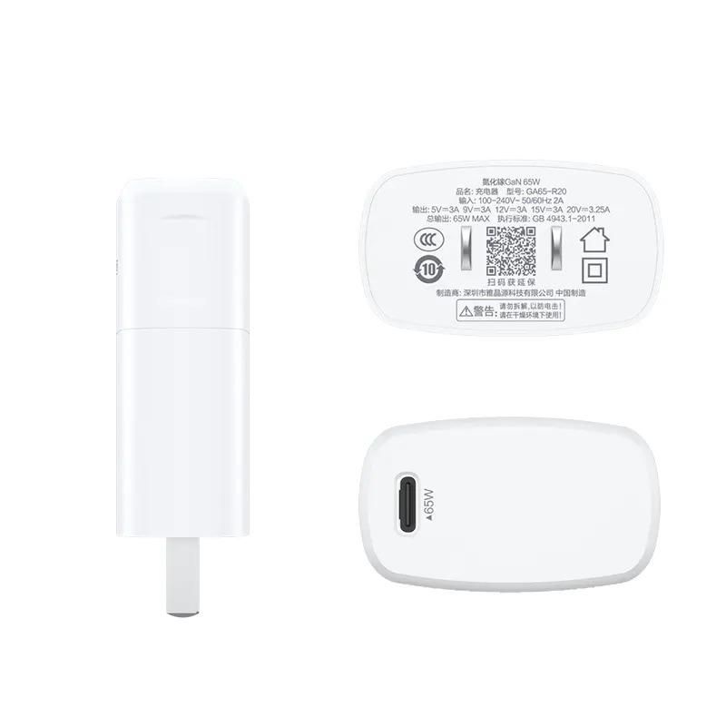 Sạc Pisen Pro GaN and Type-C (65W, 1xPD3.0 ) - Dùng cho điện thoại & Laptop _ Hàng Chính Hãng