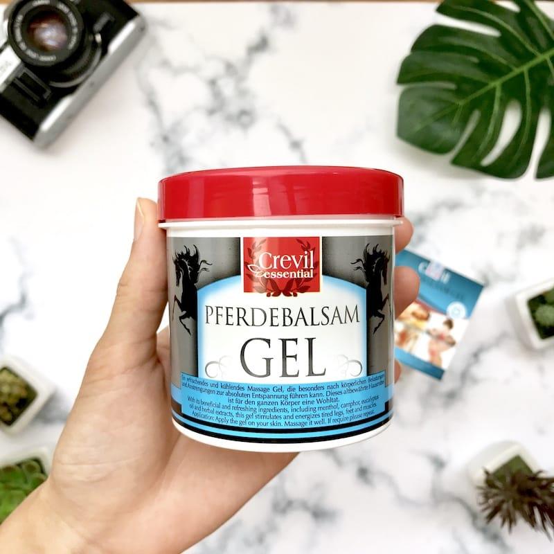 Gel massage trị liệu giảm đau giảm nhức mỏi Crevil Essential Pferdebalsam Gel 250ml