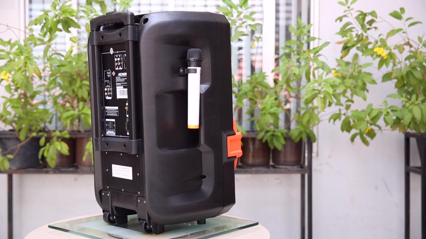 Loa kéo Acnos KB39U tích hợp đầu máy phát Wifi Loa 4 tấc, micro UHF - Chính Hãng