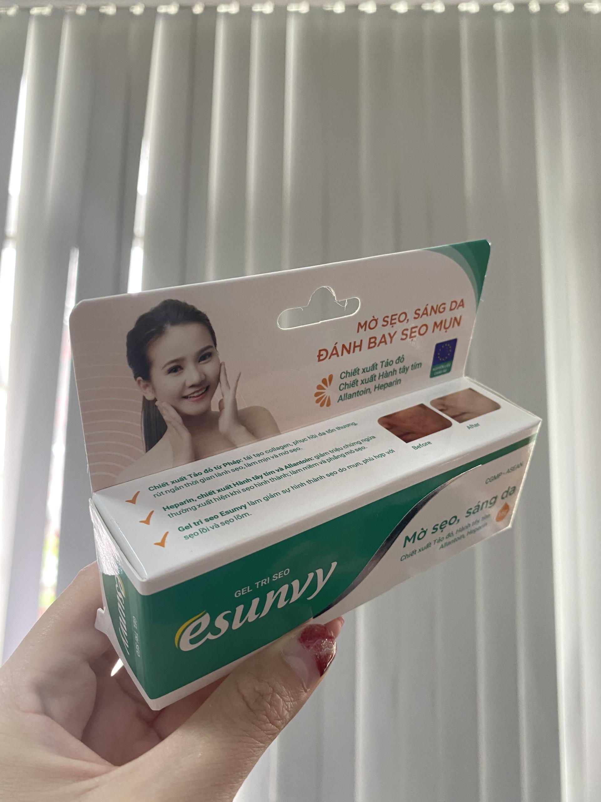 Gel Tri Seo Esunvy - Đánh bay sẹo mụn - Mờ sẹo, sáng da - Tuýp 15g