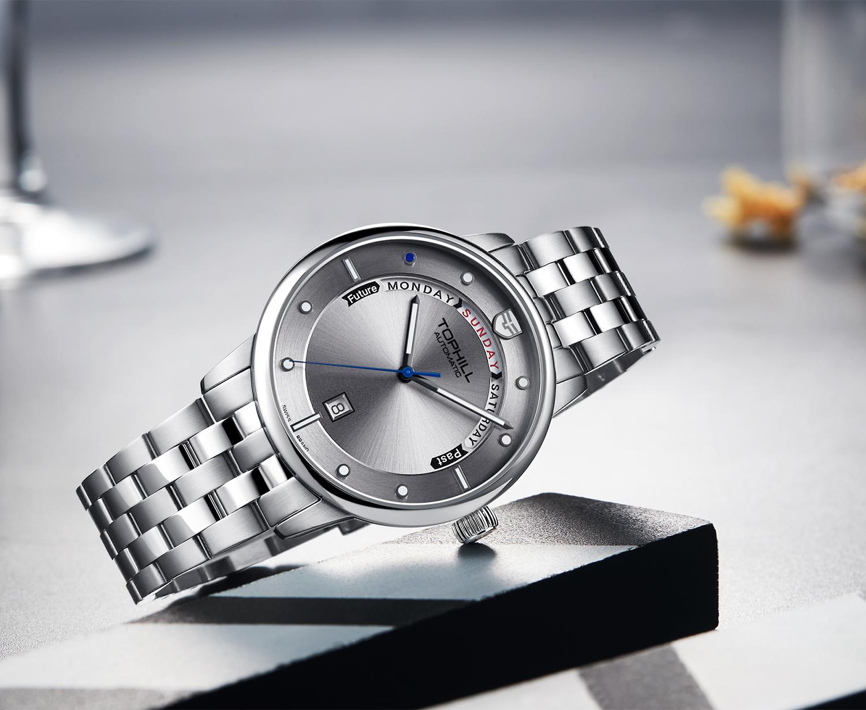 Đồng hồ nam máy cơ tự động chính hãng Thụy Sĩ TOPHILL TW071G.S1088